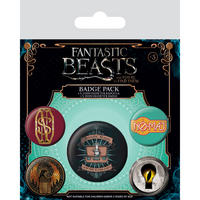Fantastic Beasts Badge Set