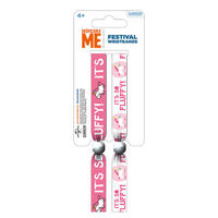"Despicable Me ""It's So Fluffy"" Unicorn Pack of 2 Festival Wrist Bands"