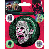 Suicide Squad The Joker Sheet of Vinyl Stickers