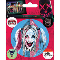 Suicide Squad Harley Quinn Sheet of Vinyl Stickers
