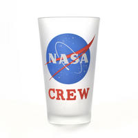 NASA Crew Logo Large Glass