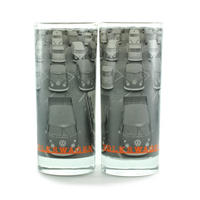 VW Camper Van Car Park Set Of 2 Glasses