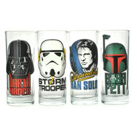Star Wars Character Faces Set Of 4 Glasses