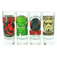 Star Wars Quotes Set of 4 Shot Glasses