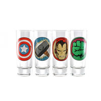 Marvel Avengers Icons Set of 4 Shot Glasses