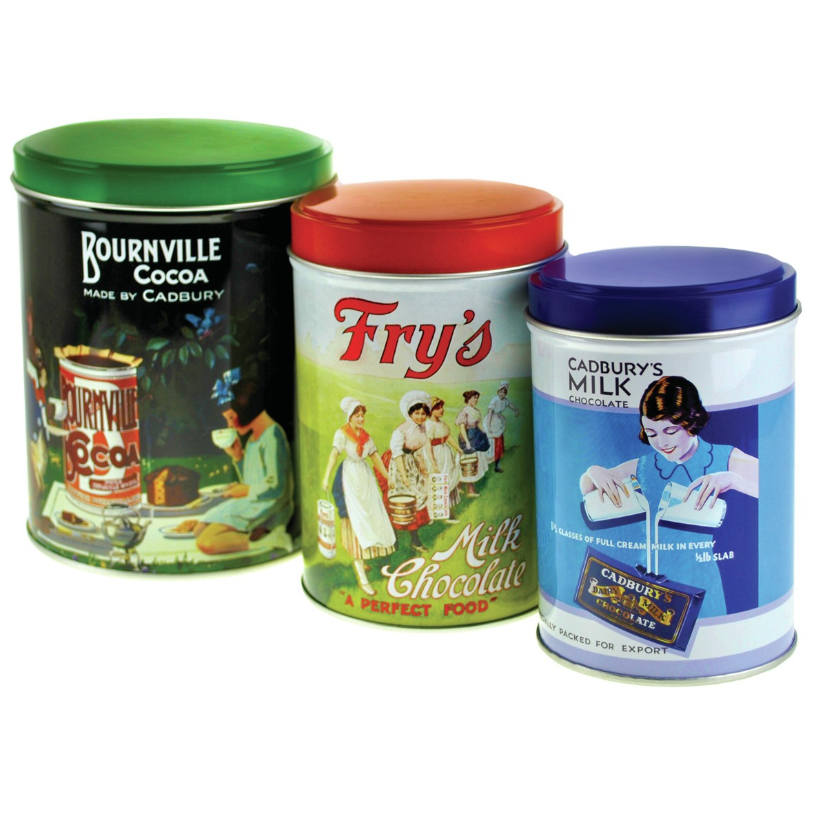 New cadburys bournville canisters tea coffee sugar kitchen - Coffee tea and sugar canisters ...