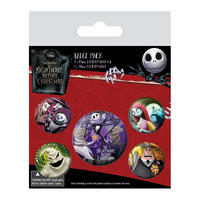 Nightmare Before Christmas Badge Set