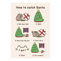 Pusheen How To Catch Santa Greeting Card