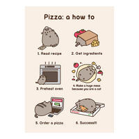 Pusheen Pizza: A How To Greeting Card