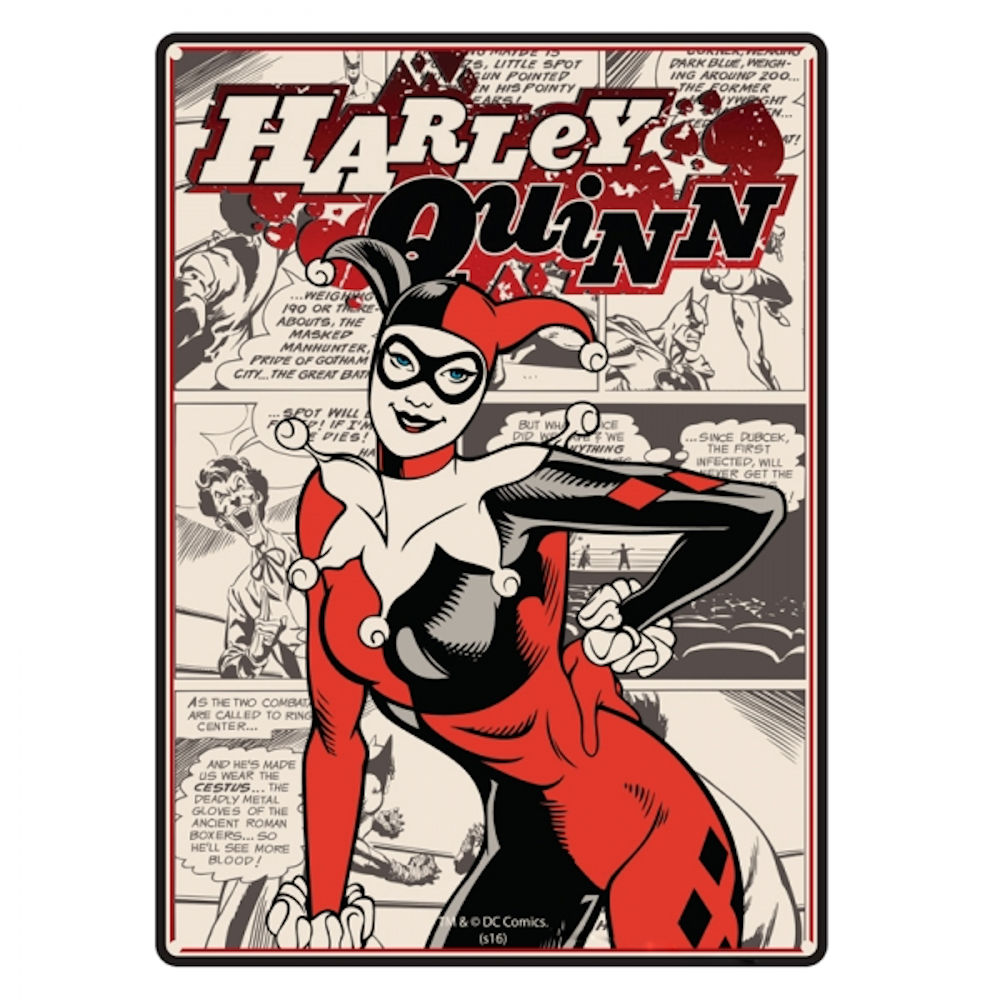 Harley Quinn A5 Steel Sign