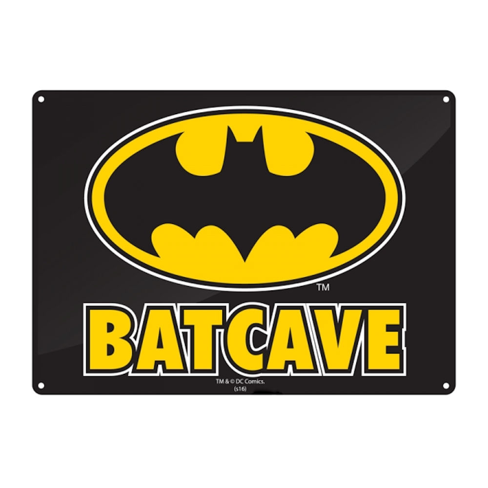 Batman Batcave A5 Steel Sign