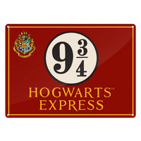 Harry Potter Hogwarts Express Platform 9 3/4 A5 Steel Sign