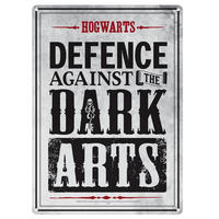 Harry Potter Defence Against The Dark Arts A5 Steel Sign