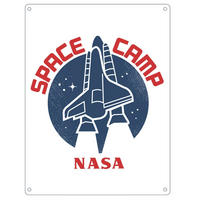 NASA Space Camp A5 Steel Sign