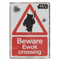 Star Wars Beware Ewok Crossing A5 Steel Sign