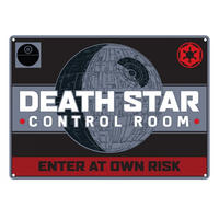 Star Wars Death Star Control Room Enter At Own Risk A5 Steel Sign