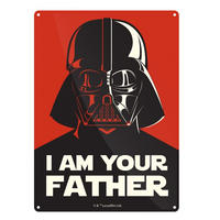 "Star Wars Darth Vader ""I Am Your Father"" A5 Steel Sign"