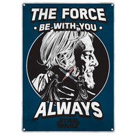 "Star Wars Obi Wan Kenobi ""The Force Be With You Always"" A5 Steel Sign"