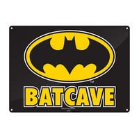 Batman Batcave A5 Steel Sign Thumbnail 1