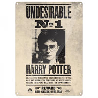 Harry Potter Undesirable No.1 A3 Large Steel Sign