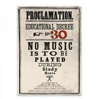 Harry Potter Proclamation No. 30 No Music A3 Large Steel Sign