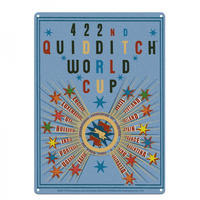 Harry Potter 422nd Quidditch World Cup A3 Large Steel Sign