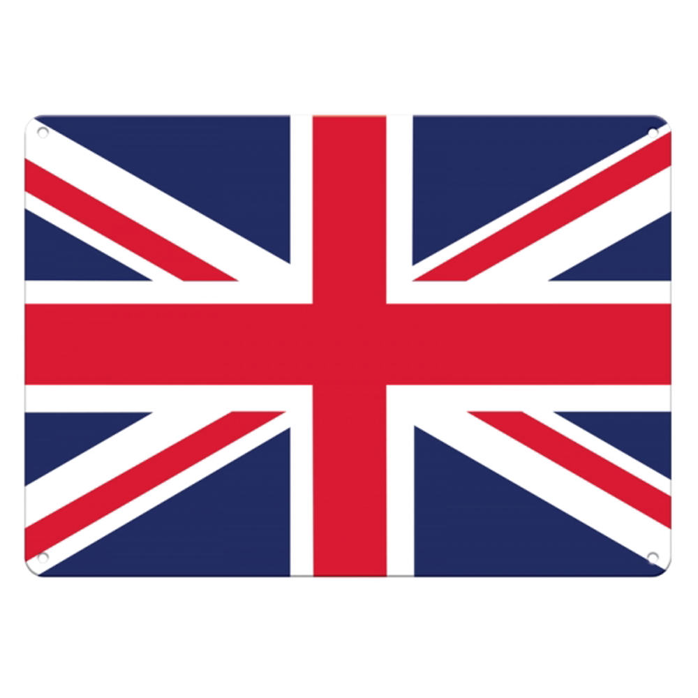 Union Jack Flag A5 Steel Sign