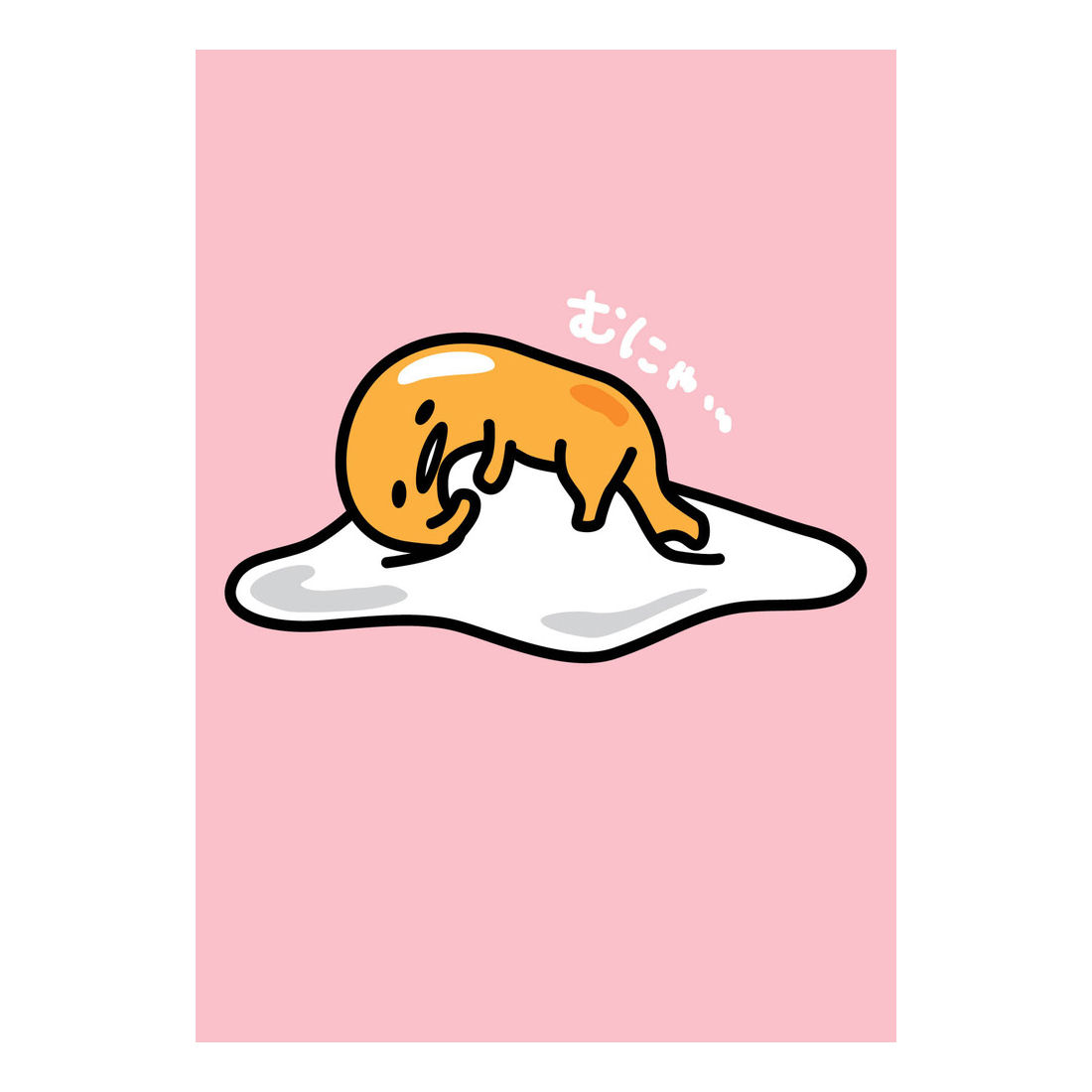 Gudetama Lying On Egg White Greeting Card Pink Greeting Cards Kitschagogo