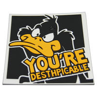 "Daffy Duck ""Desthpicable"" PVC Coaster"