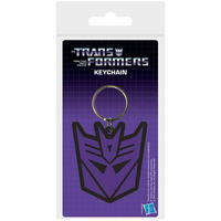 Transformers Purple Decepticon Logo PVC Keyring