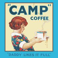 """Daddy Likes It Full"" Camp Coffee Single Coaster"