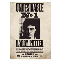Harry Potter Undesirable No.1 A5 Steel Sign