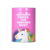 "Jolly Awesome ""Contains Coffee And Unicorn Dust"" Tin Canister"