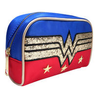 Wonder Woman Glitter Logo Make-Up Bag