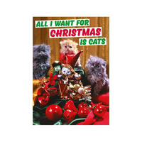 All I Want For Christmas Is Cats Greeting Card Thumbnail 1