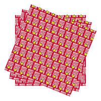 3 Sheets of Merry Christmas Turkey Tits Folded Gift Wrap