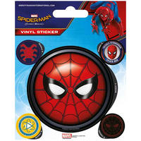 Spider-Man Homecoming Mask Sheet of Vinyl Stickers