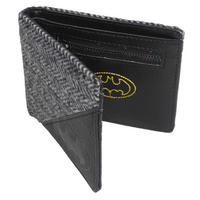 Batman Herringbone Tweed & Faux Leather Wallet Thumbnail 1