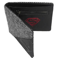 Superman Herringbone Tweed & Faux Leather Wallet