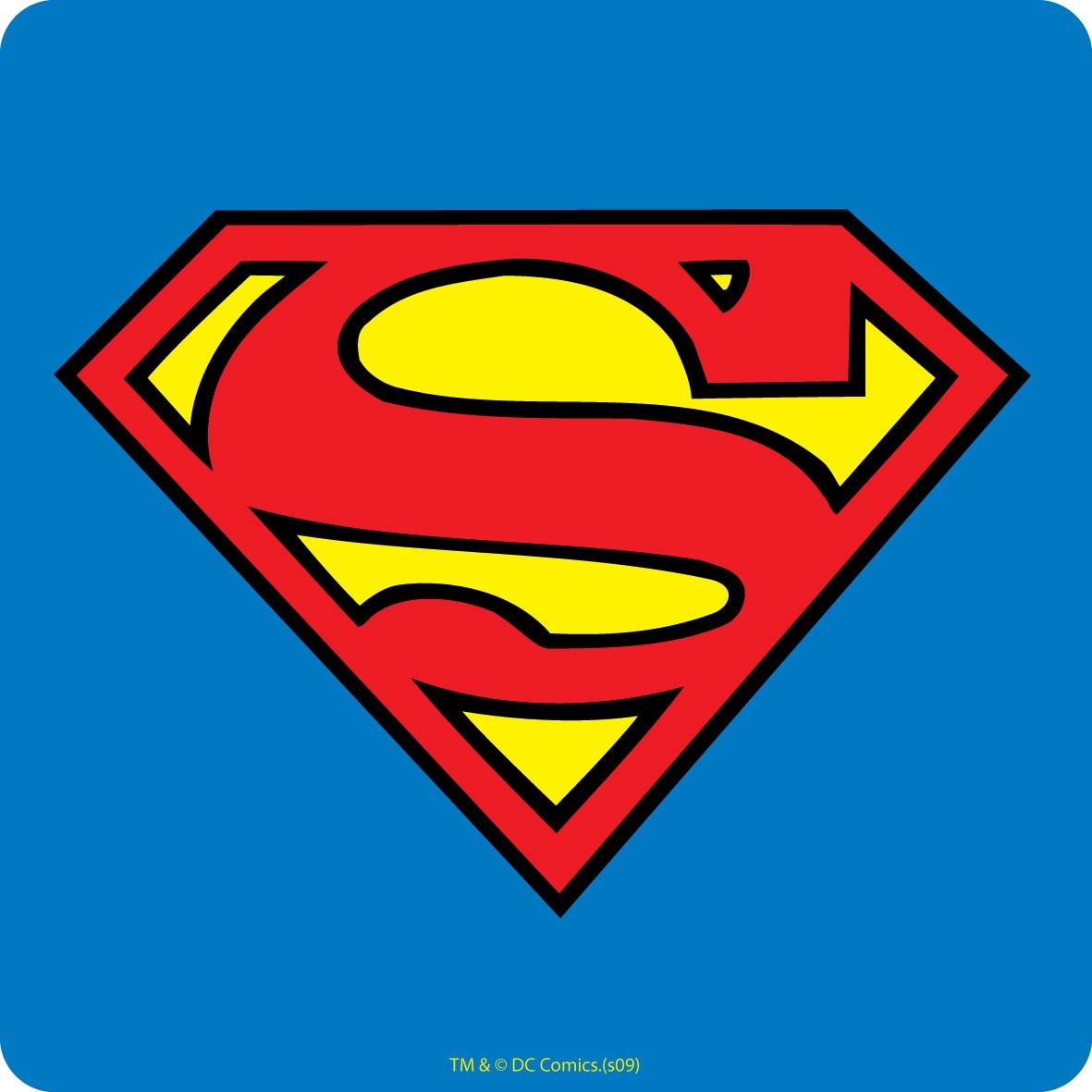 superman logo single coaster