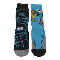 Cookie Monster 2 Pack of Mens Socks