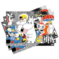 3 Sheets of Moomins Scene Gift Wrap