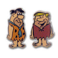 Hanna Barbera Fred Flintstone & Barney Rubble Cufflinks