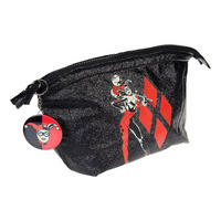 Harley Quinn Glitter Logo Make-Up Bag