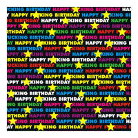 Happy F*cking Birthday Rainbow Gift Wrap x 3 Sheets