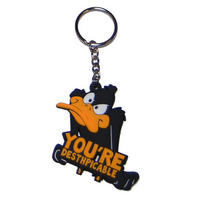 Looney Tunes Daffy Duck Rubber Keyring