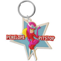 View Item Wacky Races Penelope Pitstop Star Rubber Keyring
