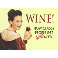 Wine! How Classy People Get Sh*tfaced Fridge Magnet