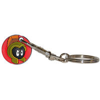 View Item Looney Tunes Marvin The Martian Shopping Trolley Token/Coin Keyring