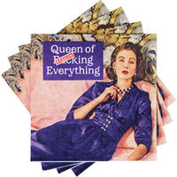20 Queen Of F*cking Everything Large Napkins